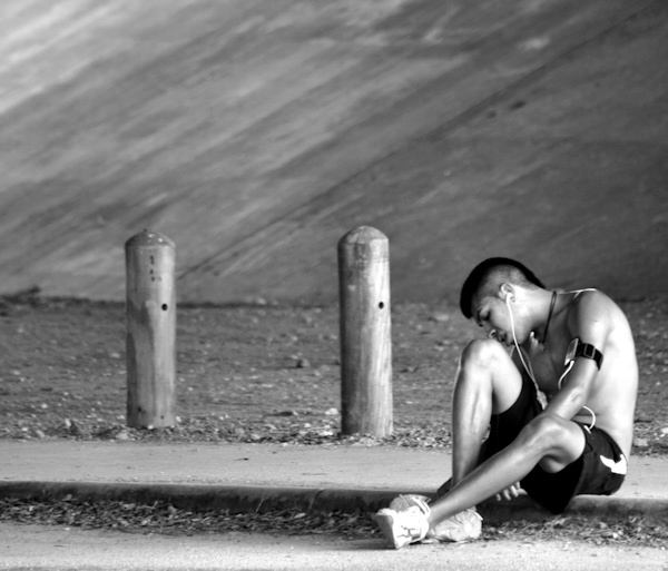 Runner Lost In Thought