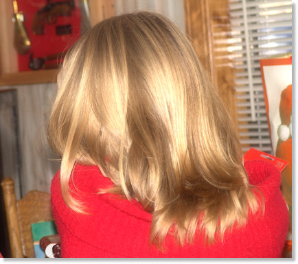 Rewarded with a close up picture of the back of her head!