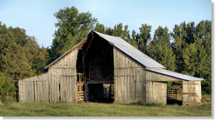 Old Hay Barn in the Country