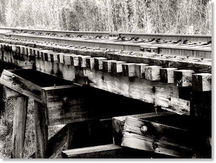 Old Railroad Bridge in Balck and White
