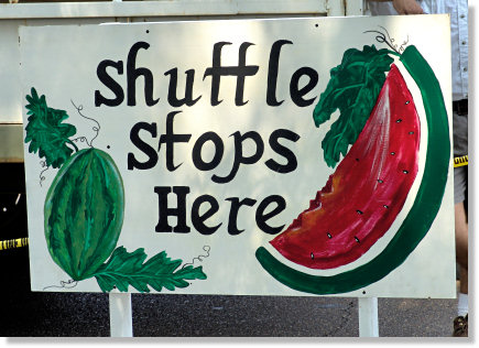 The Watermelon Carnival Shuttle Stops Her