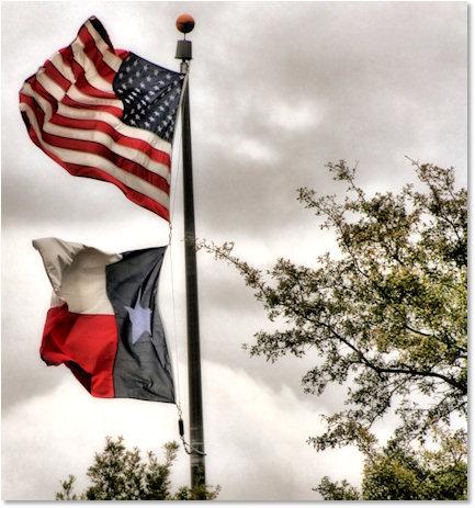 U.S. and Texas Flag