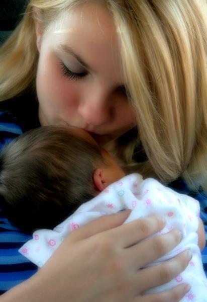 Haley Holding Her Niece Bentlei