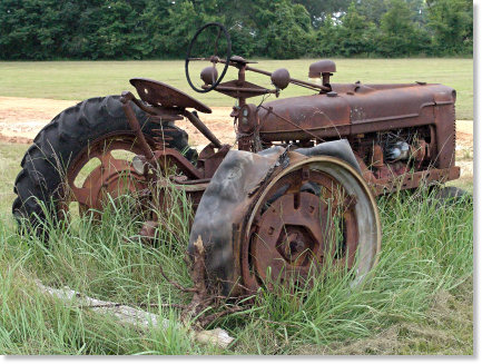 Rustic Old Tractor