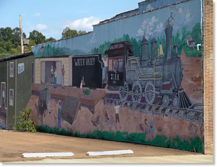 Mural On The Side Of The Old Dry Cleaners