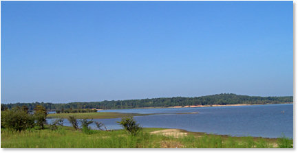 Clear Sky Over Enid Lake, Mississippi