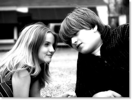 Haley and JJ (Black and White)