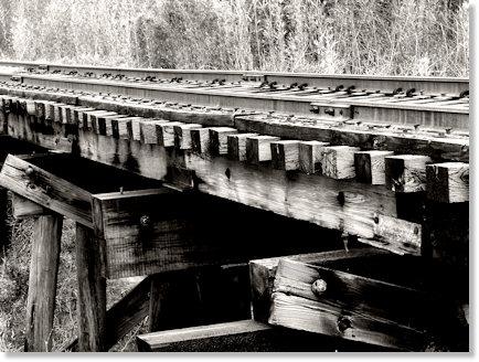 Old Railroad Bridge in Balck and White