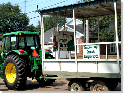 The Watermelon Carnival Shuttle Tractor