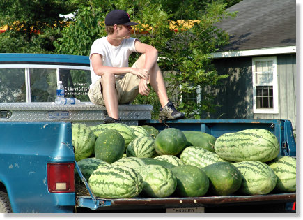 Truck Full of Watermelons