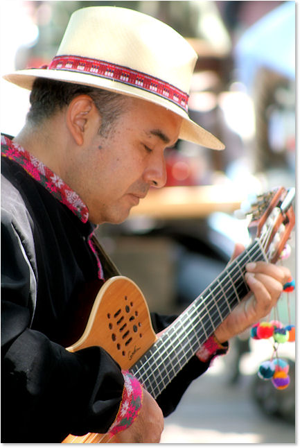 Street Musician Downtown San Antonio
