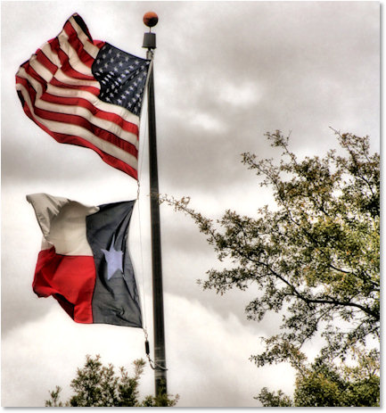 U.S. and Texas Flag